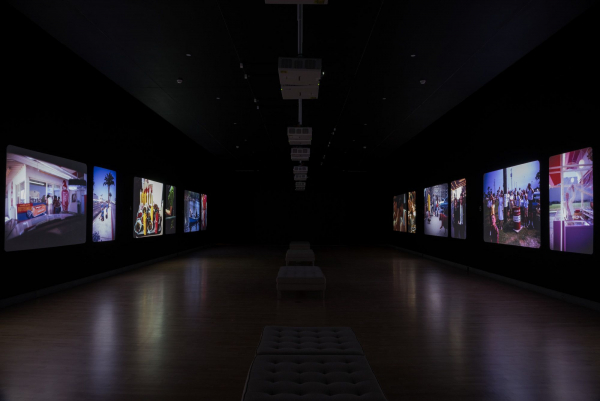 Garry Winogrand (American, 1928–1984). Installation view, Garry Winogrand: Color. Projection of 35mm color slides. Brooklyn Museum, May 3–December 8, 2019. (Photo: Jonathan Dorado)