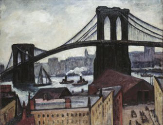 Samuel Halpert: View of Brooklyn Bridge
