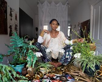 Wangechi Mutu in her Brooklyn Studio