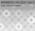 Annual Members Holiday Sale
