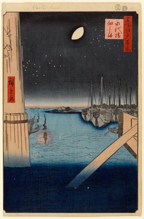 Hiroshige 'Tsukudajima from Eitai Bridge'