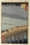 Sudden Shower Over Shin-Ōhashi Bridge and At...